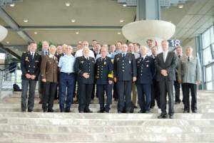 Interschutz 2015 in Hannover: Die Teilnehmer der Feuerwehrkonferenz Europa (Foto: Matthias Oestreicher / DFV)