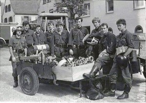 Schlauchkarren mit TS 6 (Jahr: 1978), Foto: Hans-Peter Spohn