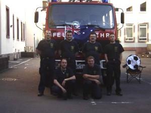 Brandsicherheitswache auf der WM-Meile im Jahr 2006 in Kaiserslautern