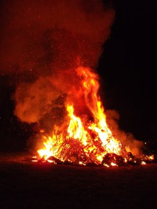 Winterverbrennung auf dem Oberberg in Olsbrücken.