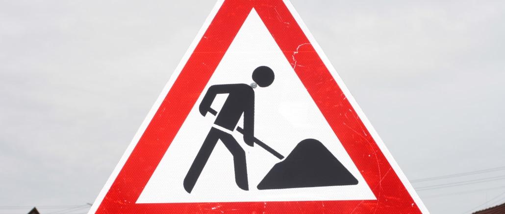 Symbolbild NEU Baustelle Baustellenschild