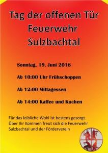 Feuerwehrfest Sulzbachtal 2016