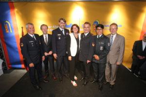 Gruppe Rheinland-Pfalz mit MdB Antje Lezius, Erwin Rüddel und Jan Metzler. Foto: Rico Thumser/DFV