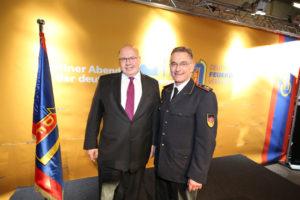 Bundesminister Altmaier und DFV-Präsident Ziebs. Foto: Rico Thumser/DFV