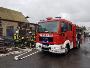 8. Oktober 2016: Feuerwehrübung in der Nähe des Flughafens Frankfurt-Hahn