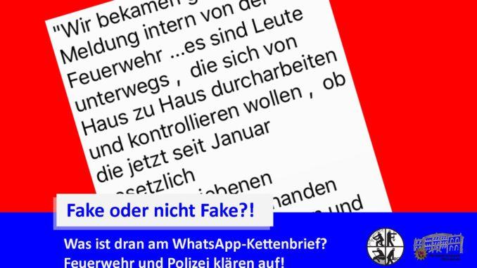 FakeMeldung WhatsApp