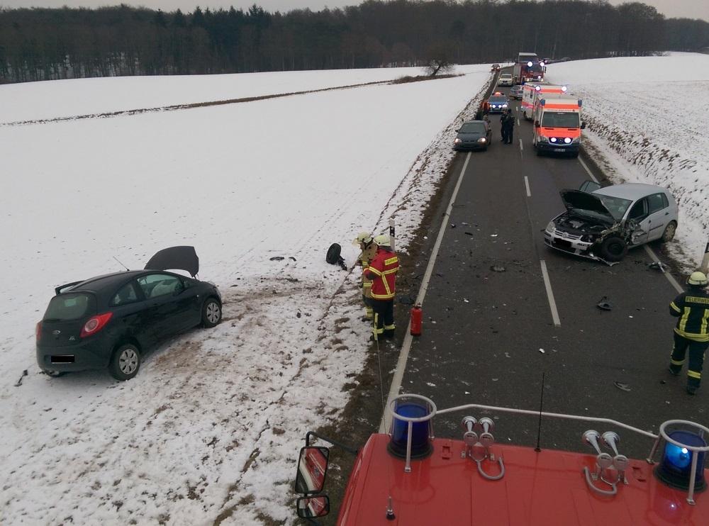 26. Januar 2017 - Verkehrsunfall (zwei Fahrzeuge), L382 Otterberg - Baalborn