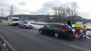 16. Januar 2017 - Verkehrsunfall, B270 Otterbach - Sambach