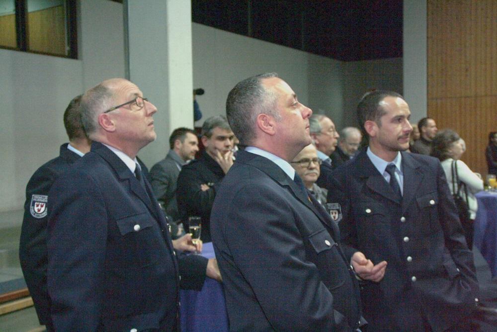 Bürgerempfang der Verbandsgemeinde: Einige Feuerwehrangehörige besuchten die Veranstaltung.