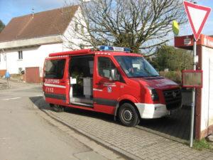 Der Einsatzleitwagen (ELW) aus Otterberg in Wörsbach.