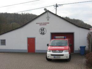 Das Mannschaftstransportfahrzeug (MTF) in Hirschhorn.