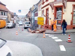 1. Februar 2017 - Beseitigung einer Gefahrenstelle, Otterberg Berg-/Hauptstraße