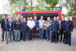 Bürgermeister Harald Westrich, Andreas Feurich (Mehlbach), Benjamin Poll (Sulzbachtal), André Mayenfels (Schneckenhausen), Ralf Kropp (Hirschhorn), Uwe Schellhaas (Mehlbach), Jürgen Welter (Reichenbacherhof), Kerstin Bleyer (Schallodenbach), Sandra Scheidt (Sulzbachtal), Manuel Seyfert (Otterbach), Steffen Schielke (Katzweiler), Dieter Scheen (Otterberg), Roman Stephan (Otterberg), 2. stv. Wehrleiter Danny Schulz, Hans Meyer (Verbandsgemeindeverwaltung), 1. stv. Wehrleiter Hendrik Braun und Wehrleiter Matthias Apfelbeck.