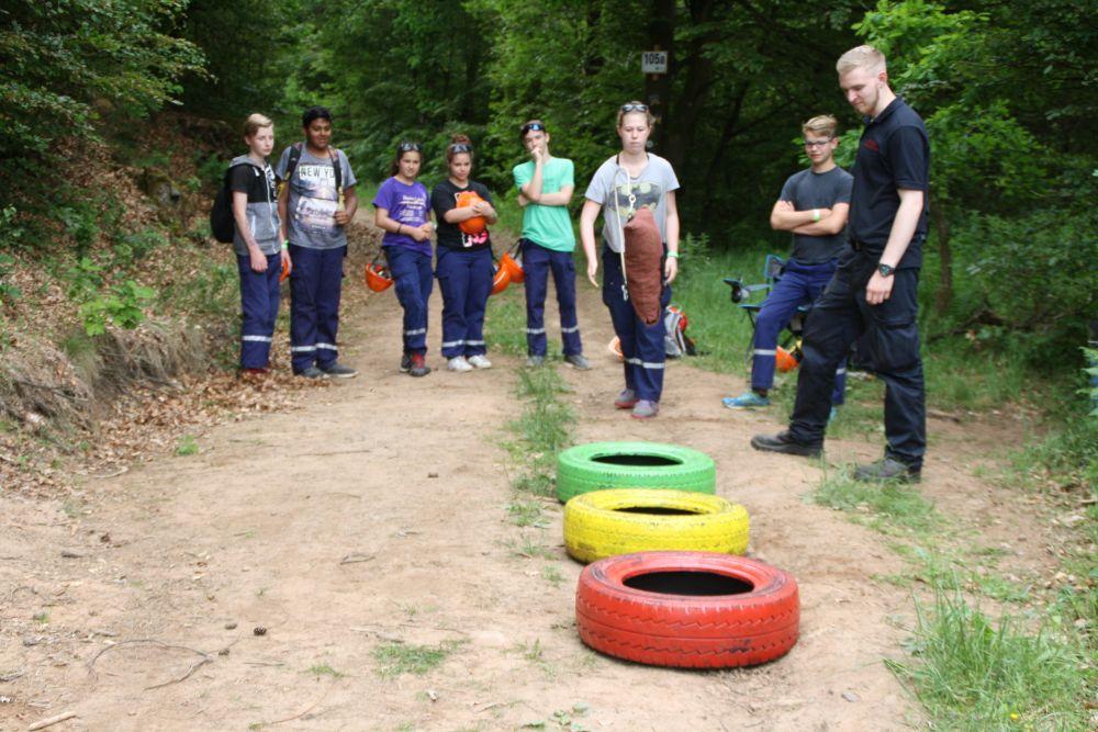 Feuerwehrleinenbeutelweitwerfen