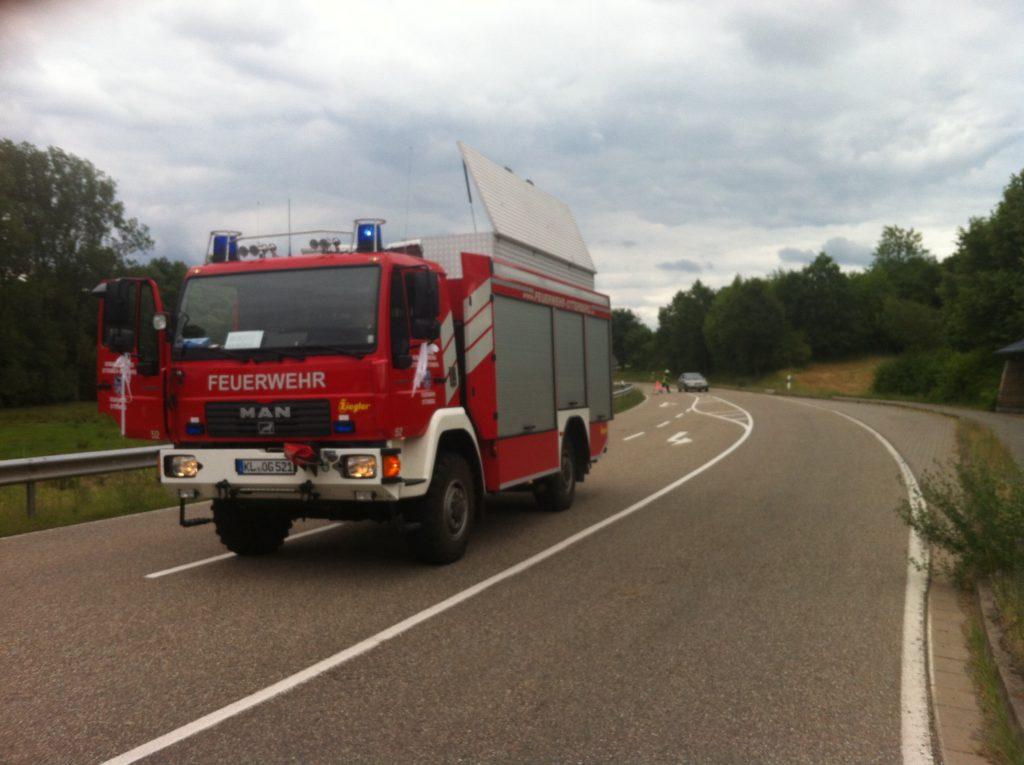 25. Juni 2017 - Verkehrsunfall, L382 Niederkirchen - Schallodenbach