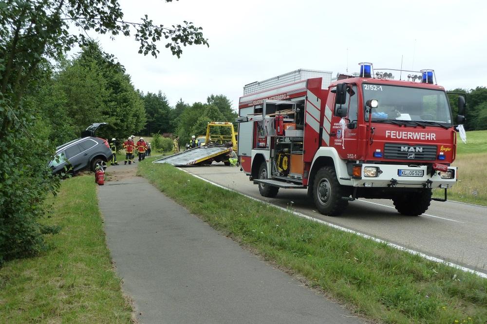 16. Juli 2017 - Verkehrsunfall, L382 Otterberg - Schneckenhausen