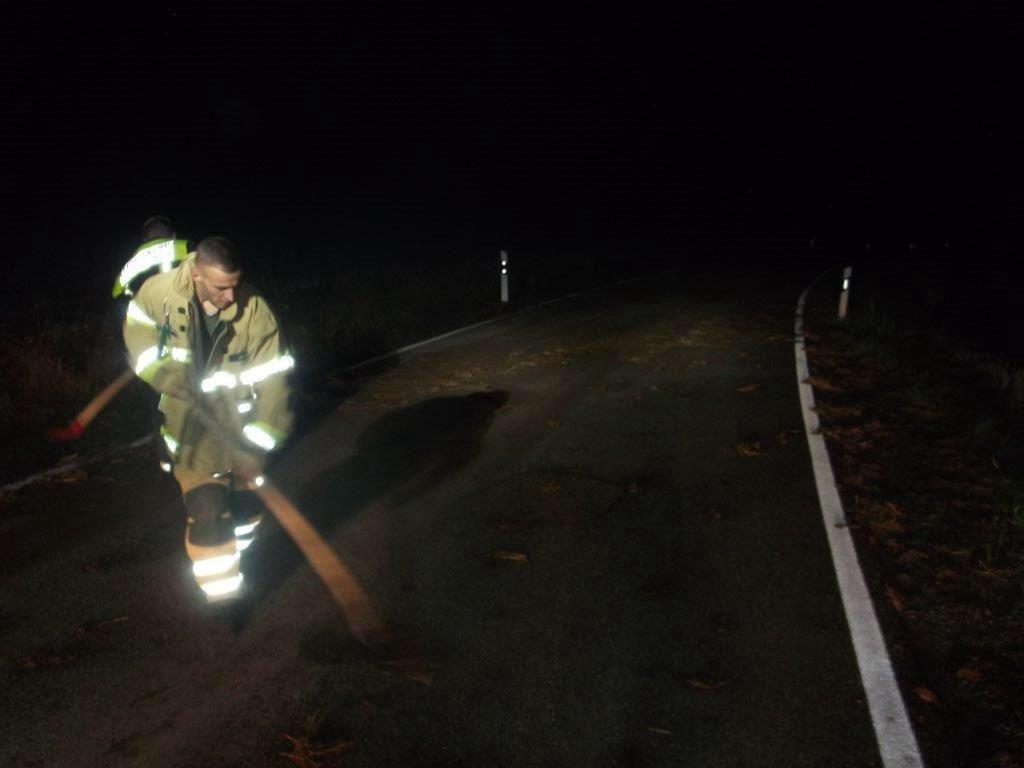 Bild von einer Einsatzstelle der Feuerwehr Olsbrücken.