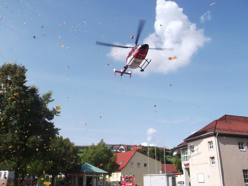 21. August 2017 - Hubschrauberlandesicherung, Olsbrücken Haupt-/Wörsbacher Straße