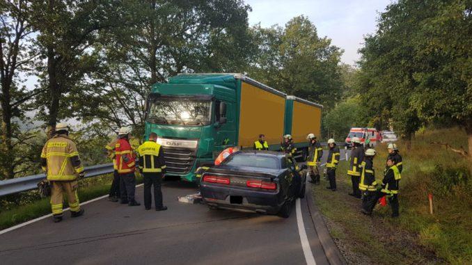 2. August 2017 - Verkehrsunfall, K47 (KUS) Niederkirchen-Morbach - Kreimbach-Kaulbach