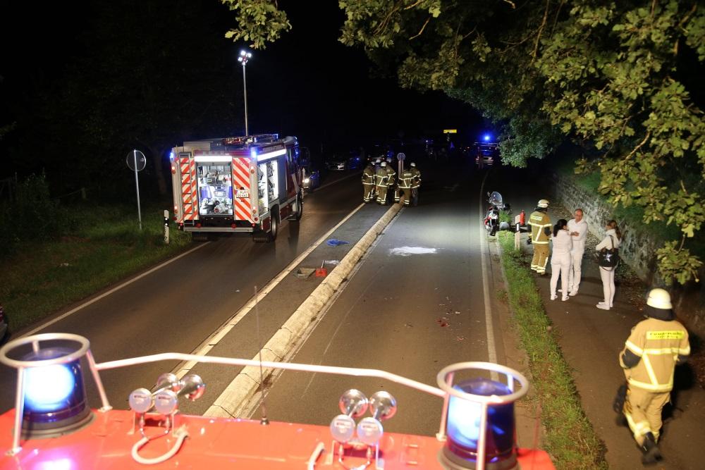 19. August 2017 - Verkehrsunfall, L387 Otterberg - Kaiserslautern-Erlenbach