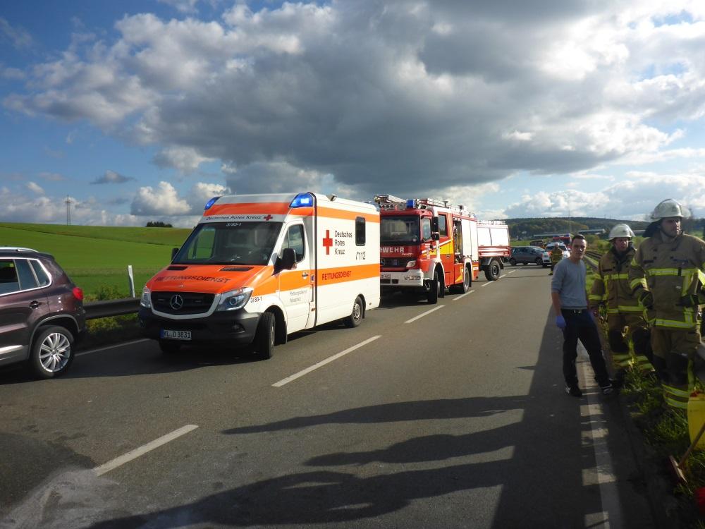 27. Oktober 2017 - Verkehrsunfall, B270 Katzweiler - Sambach