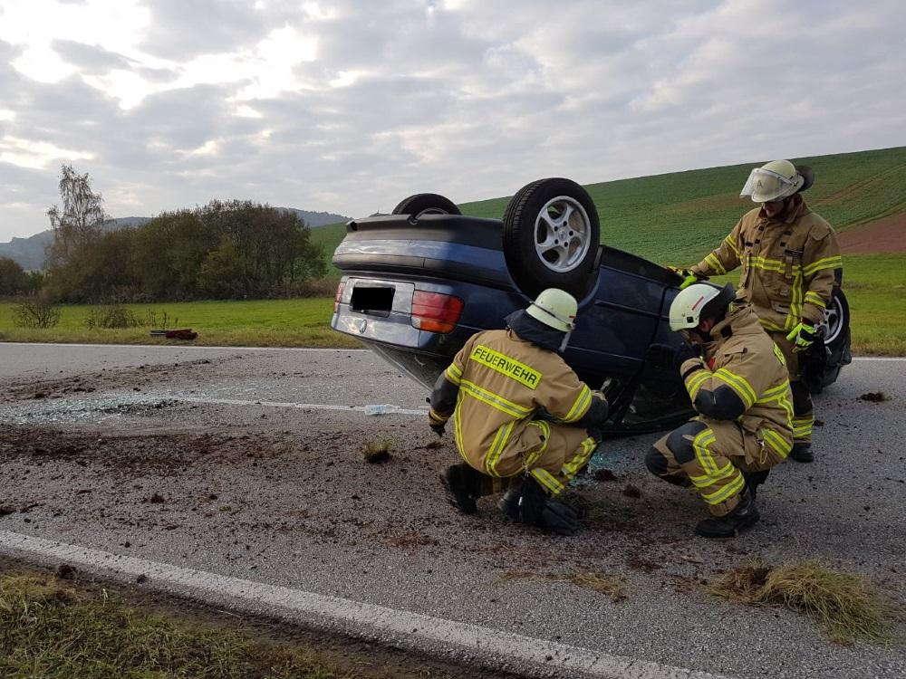 3. November 2017 - Verkehrsunfall, L388 Katzweiler - Mehlbach