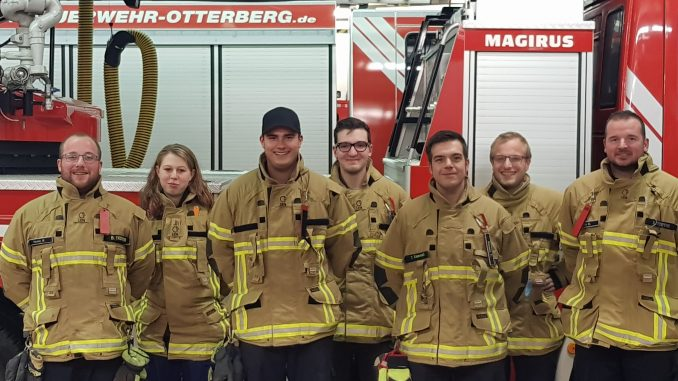 Bastian Tröster, Olivia Schwarz, Ricardo Budek, Marco Müller, Thomas Kennel, Dominik Tröster und Björn Tietje.