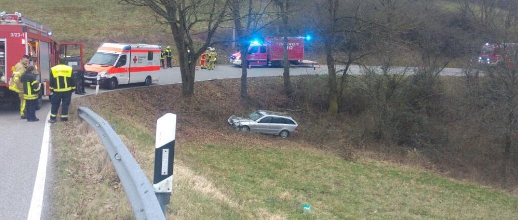 14. Januar 2018 - Verkehrsunfall, K28 Olsbrücken - Niederkirchen-Wörsbach [update]