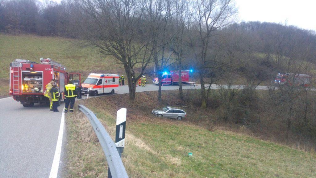 14. Januar 2018 - Verkehrsunfall, K28 Olsbrücken - Niederkirchen-Wörsbach