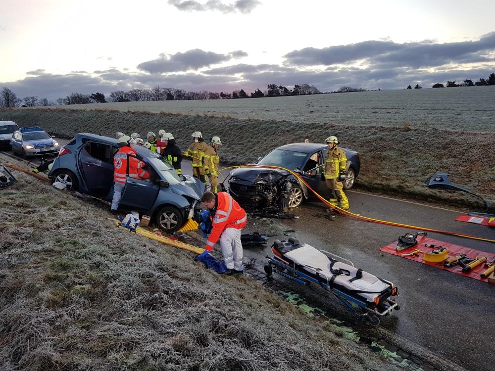 13. Februar 2018 - Verkehrsunfall, L382 Otterberg - Baalborn