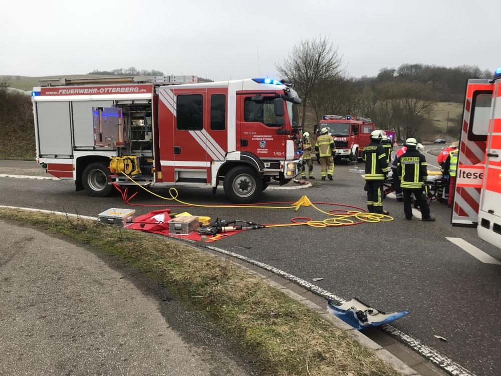 9. Februar 2018 - Verkehrsunfall, L382 Niederkirchen - Schallodenbach