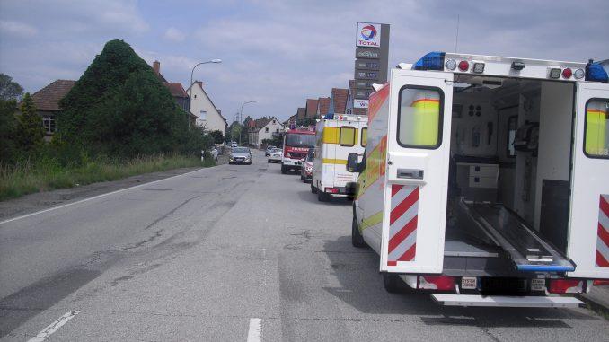 14. Juni 2018 - Verkehrsunfall, Otterbach Obere Lauterstraße