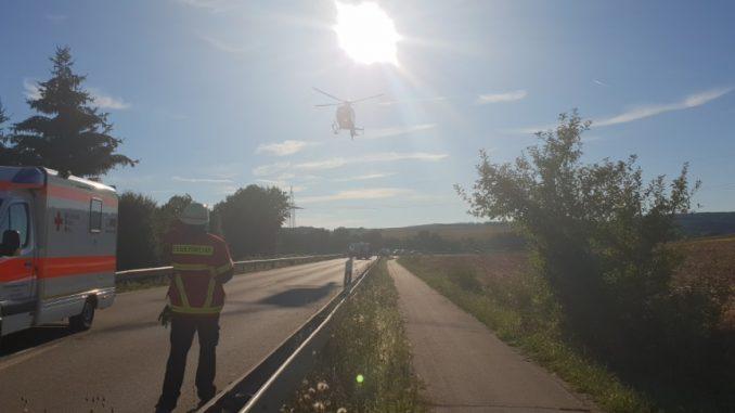 5. August 2018 - Hubschrauberlandesicherung, B270 Otterbach-Sambach - Katzweiler
