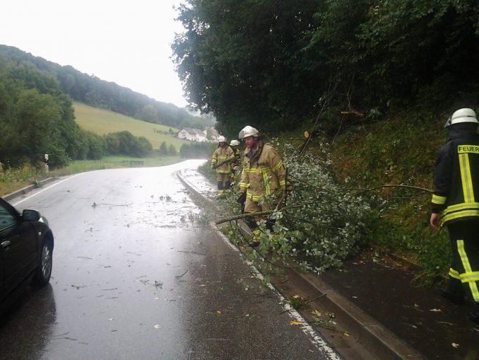 9. August 2018 – Beseitigung Unwetterfolgen, Verbindungsstraße zwischen Ober- und Untersulzbach